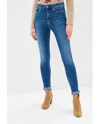 Синие джинсы скинни от Pepe Jeans