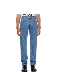 Мужские синие джинсы от Helmut Lang