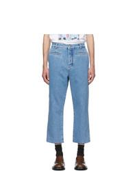 Мужские синие джинсы от Loewe