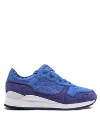Мужские синие замшевые кроссовки от Asics