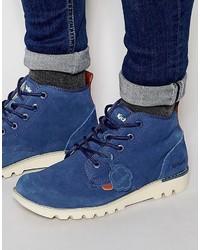 Синие замшевые повседневные ботинки