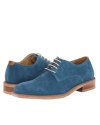 Синие замшевые туфли дерби