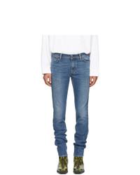 Мужские синие зауженные джинсы от Acne Studios