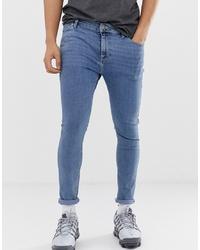 Мужские синие зауженные джинсы от ASOS DESIGN