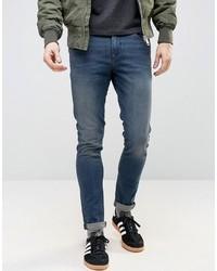Мужские синие зауженные джинсы от Asos