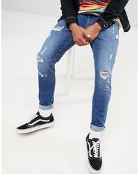 Мужские синие зауженные джинсы от Brooklyn Supply Co.