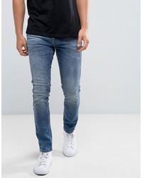 Мужские синие зауженные джинсы от Brooklyns Own