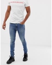 Мужские синие зауженные джинсы от Calvin Klein Jeans