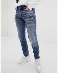 Мужские синие зауженные джинсы от Chasin'