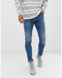 Мужские синие зауженные джинсы от Diesel