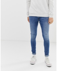 Мужские синие зауженные джинсы от Jack & Jones