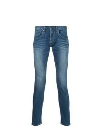 Мужские синие зауженные джинсы от Monkey Time