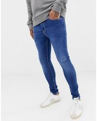 Мужские синие зауженные джинсы от New Look