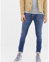 Мужские синие зауженные джинсы от Nudie Jeans