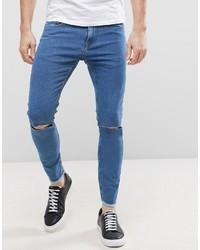 Мужские синие зауженные джинсы от ONLY & SONS
