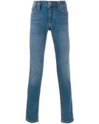 Мужские синие зауженные джинсы от Philipp Plein