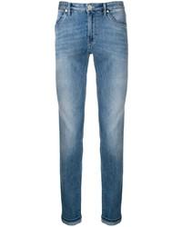 Мужские синие зауженные джинсы от Pt05