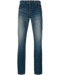 Мужские синие зауженные джинсы от Saint Laurent