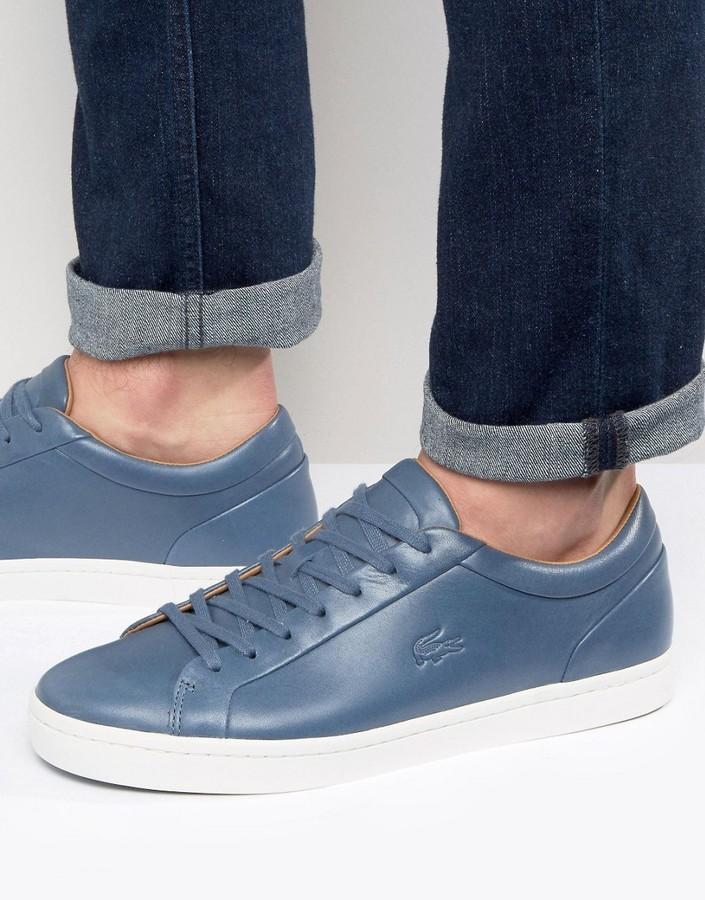 c81af3cc0337 Мужские синие кеды от Lacoste   Где купить и с чем носить