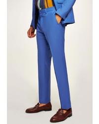 Мужские синие классические брюки от Topman