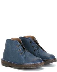 Детские синие кожаные ботинки дезерты для мальчику от Pépé