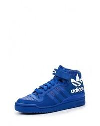 Мужские синие кожаные кроссовки от adidas Originals