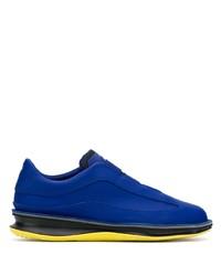 Мужские синие кожаные кроссовки от Camper
