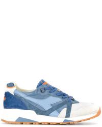 Мужские синие кожаные кроссовки от Diadora