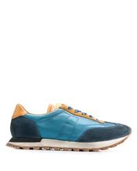 Мужские синие кожаные кроссовки от Maison Margiela