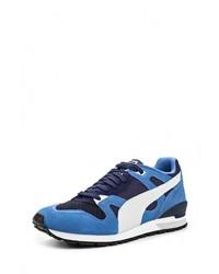 Мужские синие кожаные кроссовки от Puma