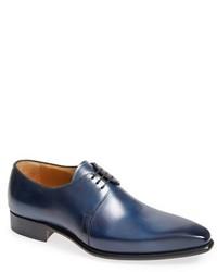 Синие кожаные туфли дерби