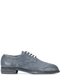Мужские синие кожаные туфли дерби от Guidi