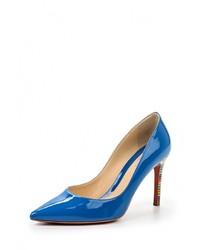 Синие кожаные туфли от Baldinini