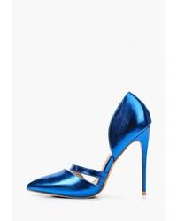 Синие кожаные туфли от LOST INK