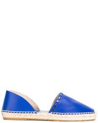 Женские синие кожаные эспадрильи от Jimmy Choo