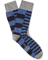 Мужские синие носки в горизонтальную полоску от Corgi