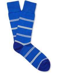 Мужские синие носки в горизонтальную полоску от Paul Smith