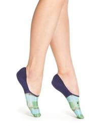 Синие носки в шотландскую клетку