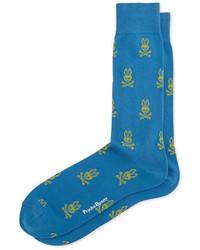 Синие носки с принтом