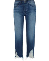Женские синие рваные джинсы-бойфренды от 3x1
