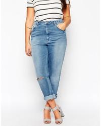 Синие рваные джинсы-бойфренды от Asos