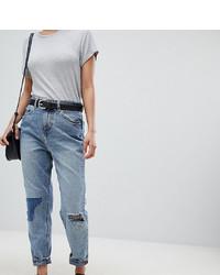 Синие рваные джинсы-бойфренды от Asos Petite
