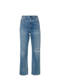 Синие рваные джинсы-бойфренды от Rag & Bone