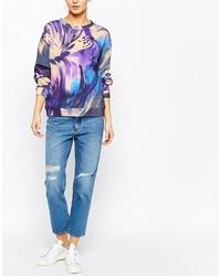 Синие рваные джинсы-бойфренды от Weekday