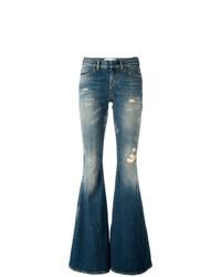 Синие рваные джинсы-клеш от Faith Connexion