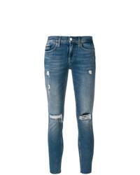 Синие рваные джинсы скинни от Calvin Klein Jeans