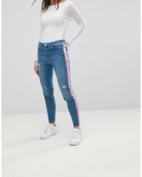 Синие рваные джинсы скинни от Chorus