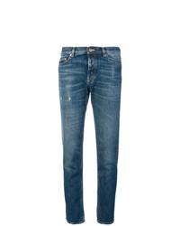 Синие рваные джинсы скинни от Golden Goose Deluxe Brand
