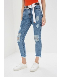 Синие рваные джинсы скинни от Lança Perfume