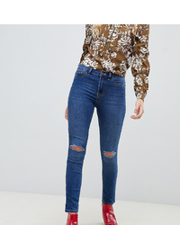 Синие рваные джинсы скинни от New Look Tall